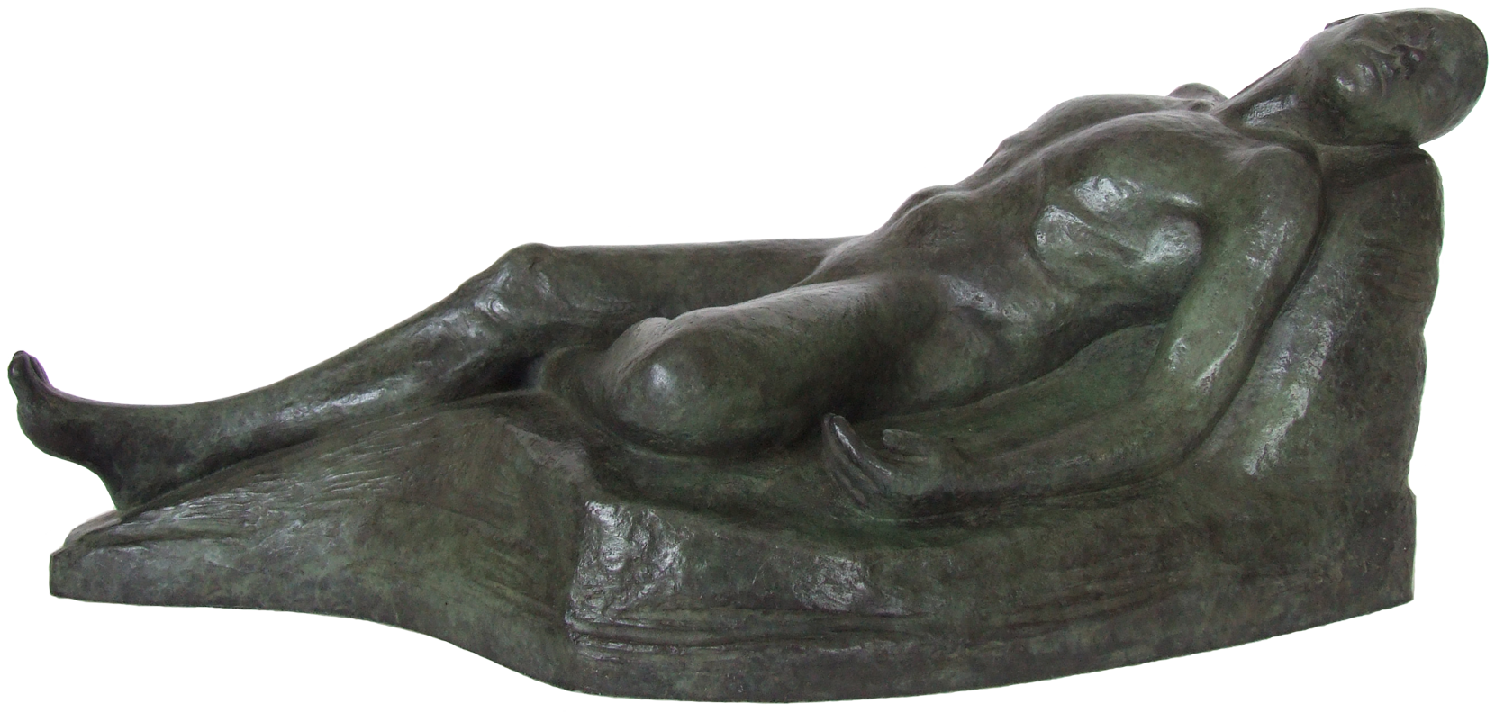 Jean-Jacques - figurative bronze sculpture by Irish artist Marie Smith
