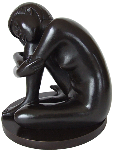 Sherie - figurative bronze sculpture by Irish artist Marie Smith